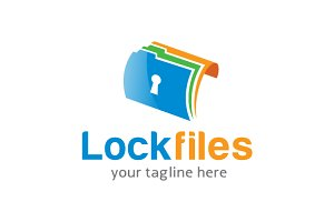 Lock Files Logo Template