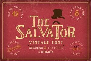 The Salvator - Vintage Font Set