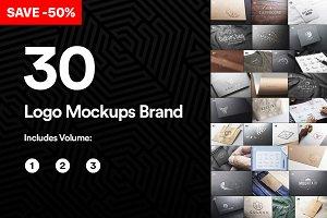 Bundle 30 Logo Mockups Brand - 2019