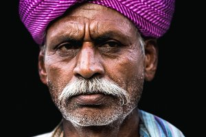Old man in Jaisalmer