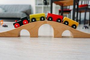 Train on the bridge
