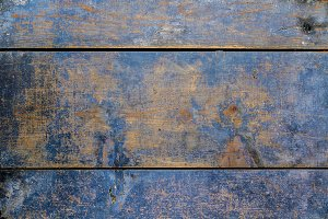 Blue board of wooden slats (11)