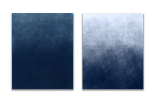 Blue ombre watercolor