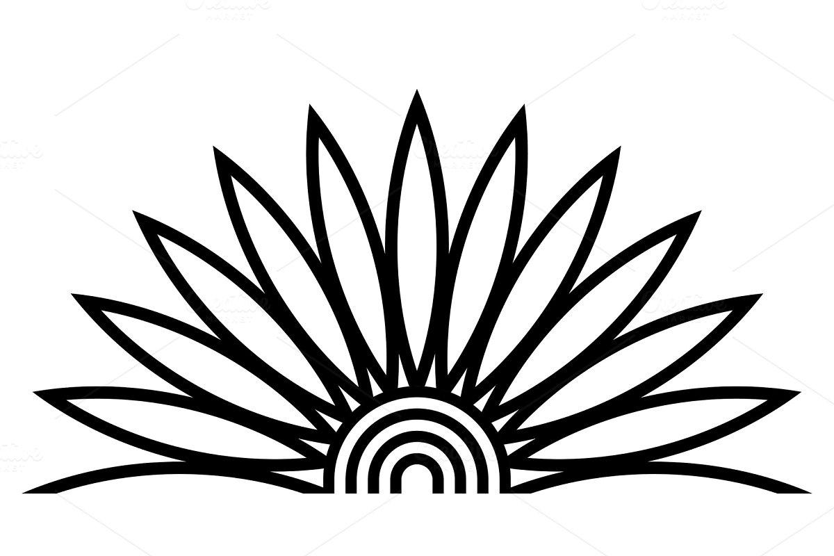 Egyptian Lotus Flower Ornament Illustrations Creative Market