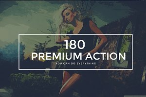 180 Premium Photoshop Action