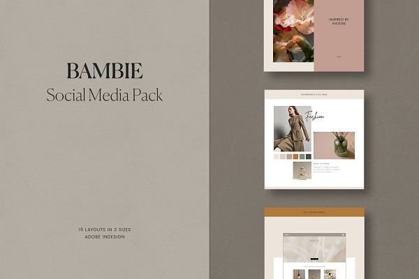 Social Media Templates: Amabile - Bambie Social Media Pack
