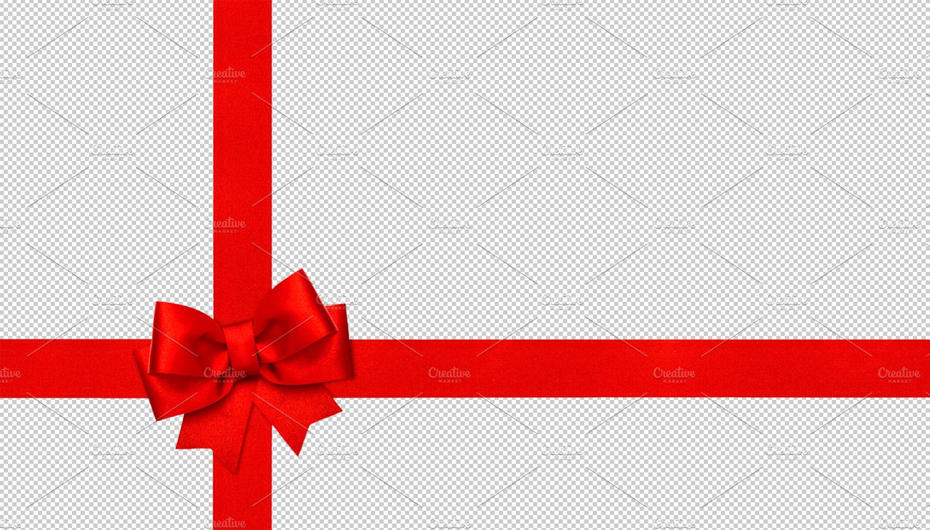 png red ribbon bow graphic objects creative market