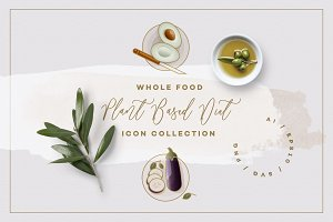 Whole Food Plant Based Diet Icons