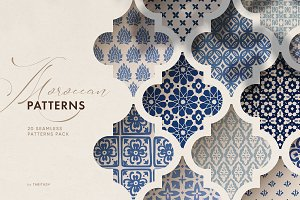 Islamic Moroccan seamless patterns