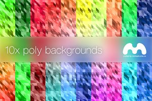 10x Poly Backgrounds