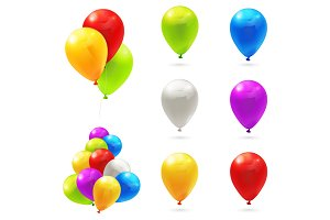 Toy balloons icons