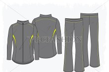 Women Sport Running Jacket and Pants