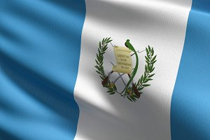Guatemala national flag blowing in t
