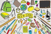 Back-to-School Hand Drawn Clipart