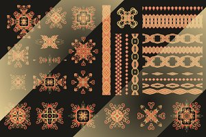 Set  of decorative elements