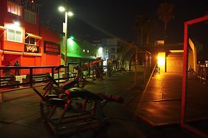 Muscle Beach, Venice at Night