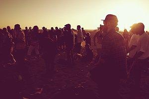 Sunset Party on Venice Beach, CA