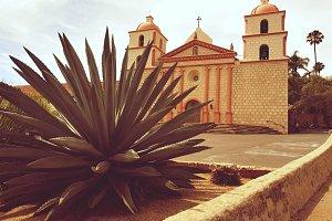 Cactus and The Mission Santa Barbara