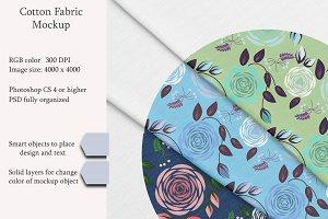 Cotton fabric. PSD object mockup.