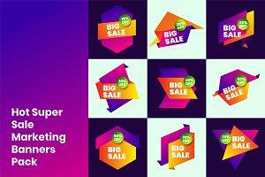 Hot Super Sale Marketing Banners