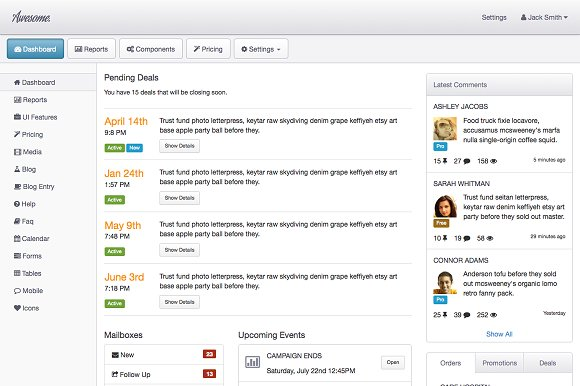 Awesome Admin - A Bootstrap 3 theme