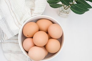 Brown Eggs | Styled Stock Image