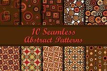 Ten Geometrical Seamless Patterns