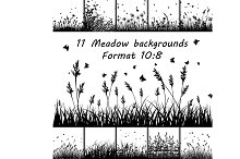 Set of Eleven Meadow backgrounds