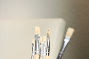 Jar of Paint Brushes | Stock Image