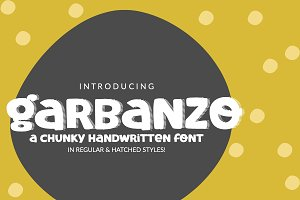 New! Garbanzo Handwritten Font