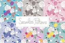 Seamless patterns for Jazzy Spring