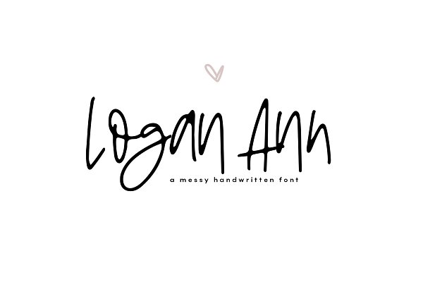 Display Fonts: KA Designs - Logan Ann - A Handwritten Font