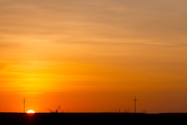 Stock Photos: P Maxwell Photography - Beautiful Orange Sunset with Shadows