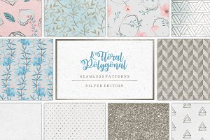 Floral & Polygonal Patterns Silver
