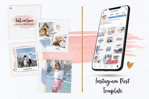 Watercolour Instagram Feeds Template