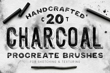 Charcoal Procreate Brushes by  in Add-Ons