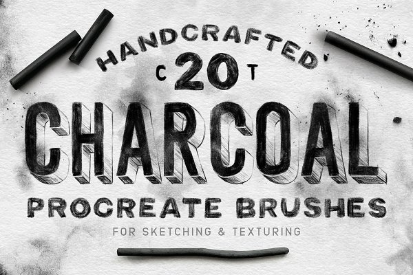 Add-Ons - Charcoal Procreate Brushes
