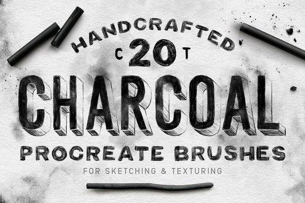 Procreate Brushes - Charcoal Procreate Brushes