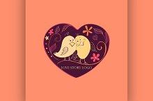 Love story Logo Symbol