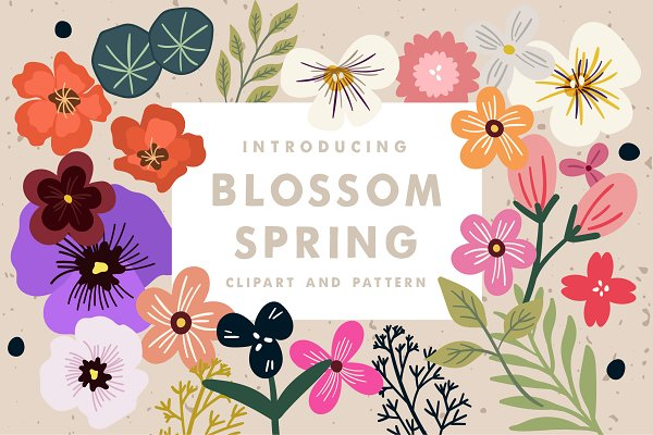 Graphic Patterns: caocastudio - Blossom Spring Toolkit
