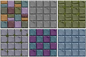 Vector set of stone Seamless texture