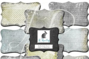 Chartreuse & Grey Clipart Frame PNG