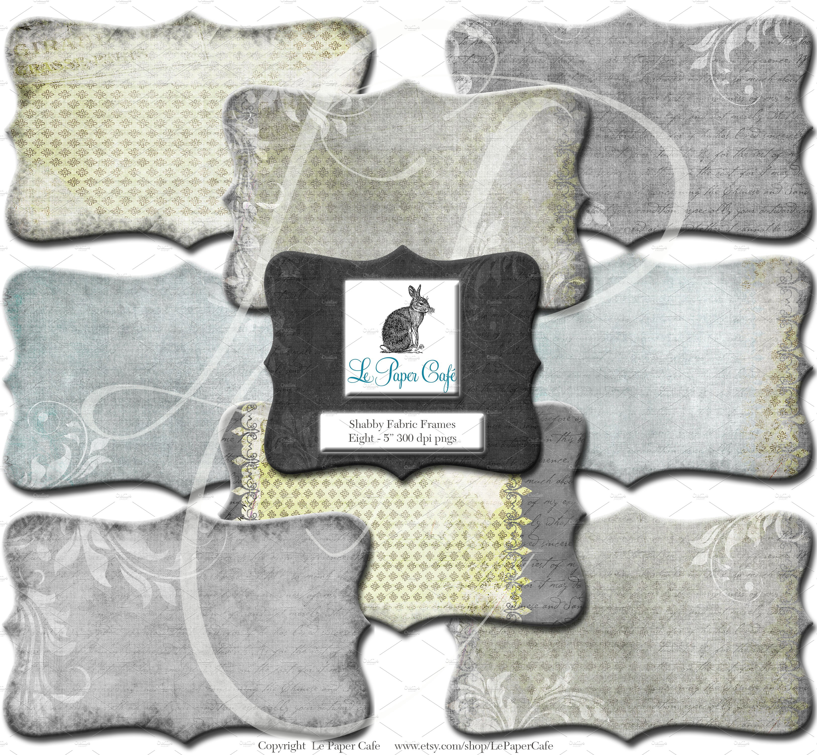 Chartreuse & Grey Clipart Frame PNG ~ Graphic Objects ~ Creative Market