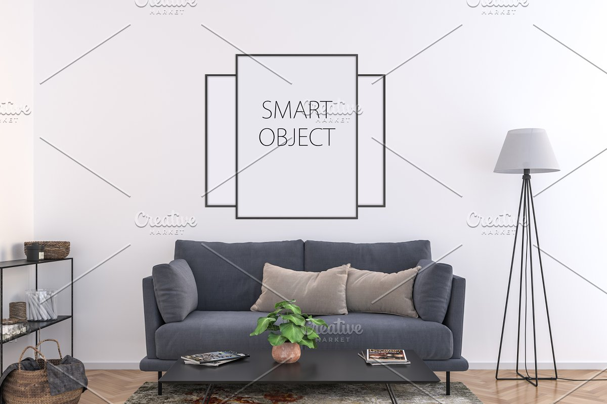 ac75010f65cd Frame mockup - vertical   horizontal ~ Print Mockups ~ Creative Market