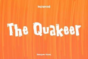 The Quakeer - Display Font