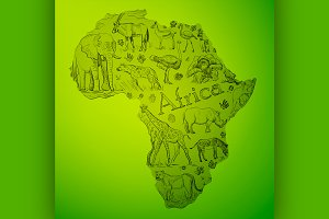 The African continent is filled