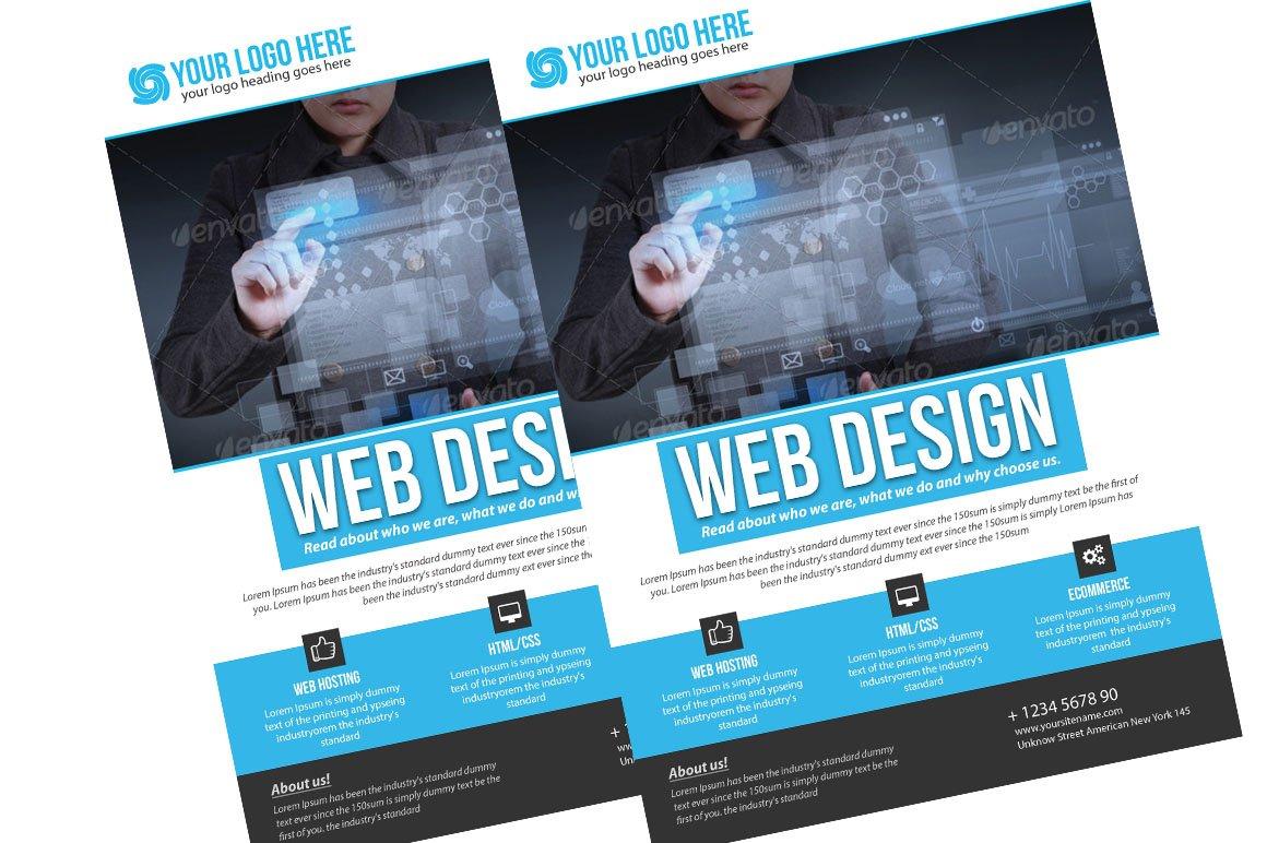 Web Design Flyer ~ Flyer Templates ~ Creative Market