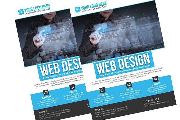 Web Design Flyer Flyer Templates on Creative Market – Web Flyer