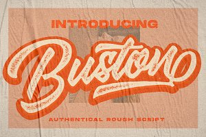 Buston Authentical Typeface