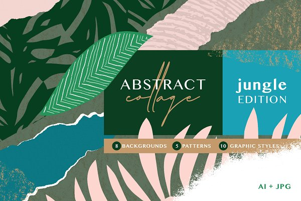 Abstract Collage - Jungle
